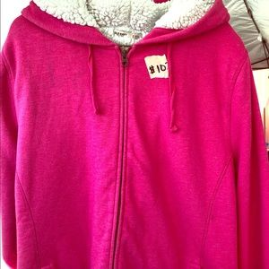 Old navy Sherpa lined zip up